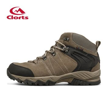 2016 Clorts Men Trekking Shoes Breathable Leather Hiking Shoes Men Outdoor Shoes Trail Hiking Boots HKM-822A/G