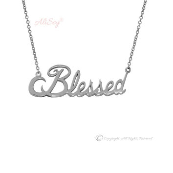 14k White Gold Blessed Pendant, Style # ASP03WG