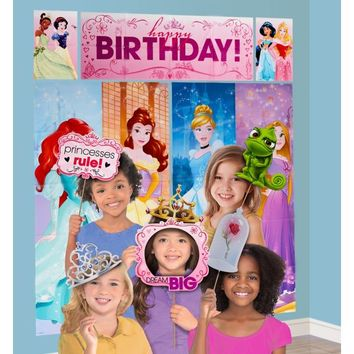 Disney Princess Scene Setter with Photo Booth Props | Party City