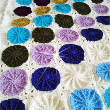 Crochet Baby colorful square blanket pattern