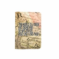 The World Is A Book World Map Customized Cute Leather Passport Holder - Passport Covers - Passport Wallet_SUPERTRAMPshop