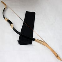 35lbs Black Wuyi recurve bow horsebow for beginners