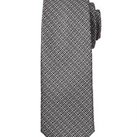 Textured Woven Neck Tie Grey/Black One