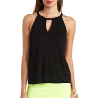 CUT-OUT HIGH-LOW TANK TOP