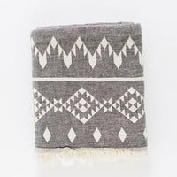 Turkish-T - Kilim Beach Towel | Black