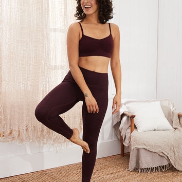 Aerie Play High Waisted Legging, Deep Plum