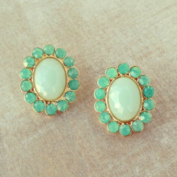 Pree Brulee - Mint Gelato Earrings