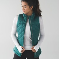 down for a run vest | women's running vests | lululemon athletica