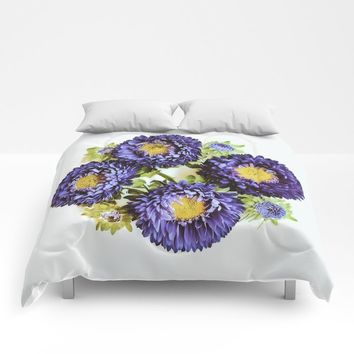 Matsumoto Asters Comforters by duckyb