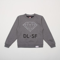 DL-SF Womens Crewneck in Heather
