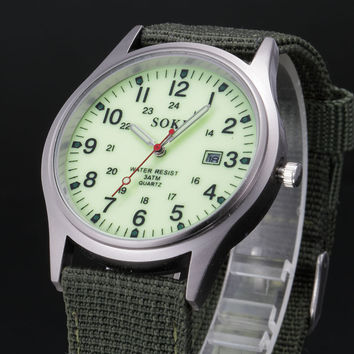 Canvas Watch Quartz Watch [6542544771]