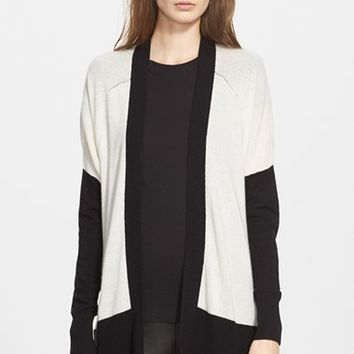 Women's Vince Colorblock Drop Shoulder Cardigan,