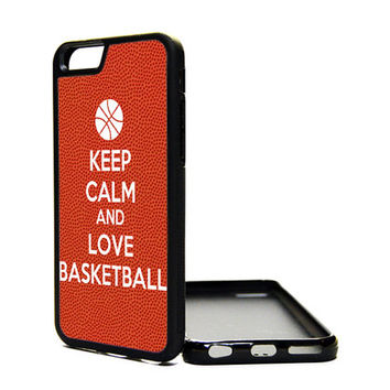 Apple iPhone 6 5C 5S 4S Generation Fitted Rubber Silicone TPU Phone Case Cover Keep Calm Carry On Love Basketball Sports Cute Print