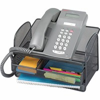 Safco Onyx Angled Mesh Steel Telephone Stand | Quill.com