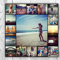 Instagram Collage Poster Print 11x11 Personalized Dorm Art Wall Decor