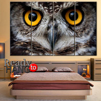 Owl Wall Art, Print Owl Art, Canvas Print on Stretched, Canvas Wall Art, Bird Print, Owl Canvas, Print Canvas, Print Owl Wall Art