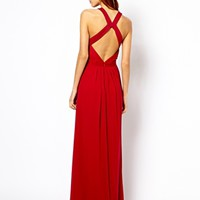 Warehouse Strappy Back Detail Maxi Dress