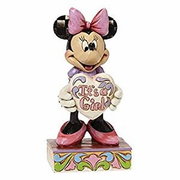 Disney Minnie It's a Girl Jim Shore Resin Figurine New with Box