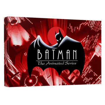 Batman The Animated Series - Btas Logo Canvas Wall Art With Back Board