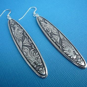 goddess earrings in silver
