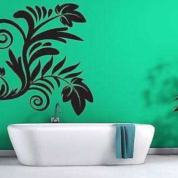 Wall Vinyl Sticker Decal Beautiful Floral Decoration Living Room Bathroom Unique Gift (n207)
