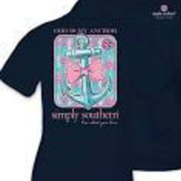 "Youth Simply Southern "" God is My Anchor"" Tee"