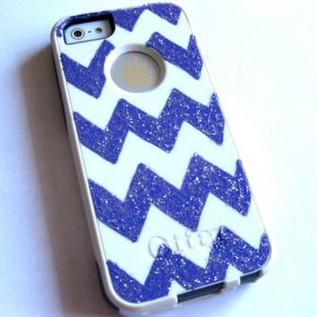 OTTERBOX iphone 5s case, case cover iphone 5/5s otterbox ,iphone 5s otterbox case,otterbox iPhone 5,gift, Purple chevron otterbox case