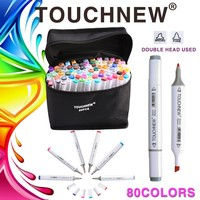 TOUCHNEW 168 Colors Artist Painting Manga Art Marker Pen Head Alcohol Art Sketch Graffiti Fineliner Markers Set Markers Designer