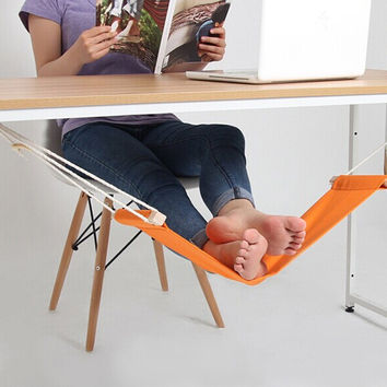 65*17cm Office Foot Rest Hammock Stand Desk Foot Hammock Easy to Disassemble Study Indoor Orange Free Shipping