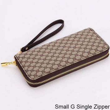 ac NOVQ2A GUCCI Double G Wallet Wallet Multi Card Mobile Phone Bag Small G Single Zipper