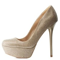 Glitter Platform Heels by Qupid at Charlotte Russe