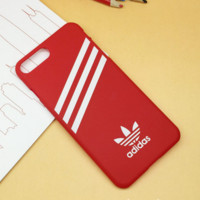 Red Adidas Print Iphone 7 7plus & 6 6s Plus Cover Case + Gift Box