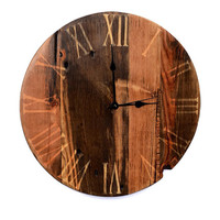 Handcrafted Reclaimed Barn Wood Wall Clock