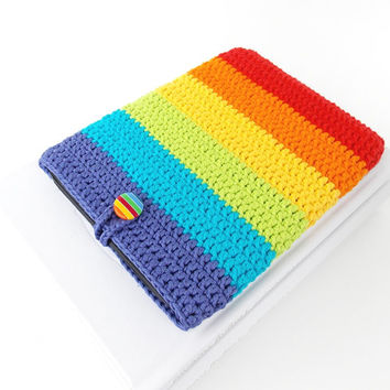 Double Rainbow Nook Glowlight Plus cover, Kindle Paperwhite cozy, Kobo Glo sleeve, Sony Reader case, Kindle Oasis pouch, rainbow ebook cover