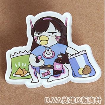 Overwatch Hero Pins Funny Kawaii Cartoons