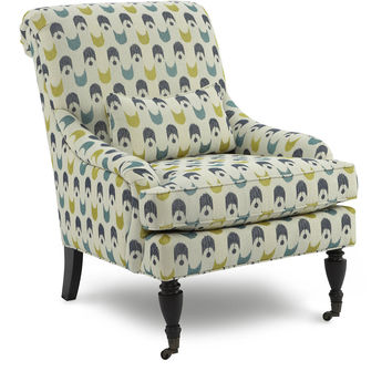 Oxford Patterned Chair, Green/Blue, Accent & Occasional Chairs