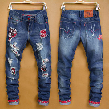 Winter Fashion Men Korean Stylish Pants Jeans [6528598083]