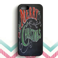 Merry Christmas chalkboard iPhone 5 and  5s case