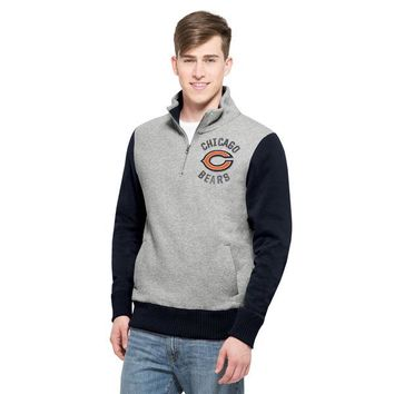 Chicago Bears Adult Coverage 1/4 Zip Sweatshirt