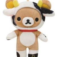 zodiac sign Taurus Rilakkuma bear plush charm - Cellphone Accessories - Accessories
