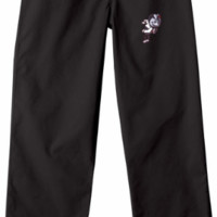 Ohio State Buckeyes Black Scrub Pants with Brutus Buckeye