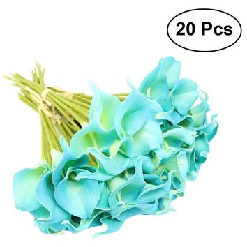 20pcs Artificial Calla Lily Bridal Wedding Bouquet