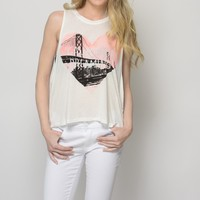 California Dreaming Ivory Print Top