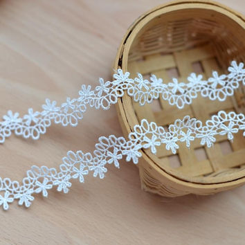 Milk white water soluble embroidered lace accessories diy lace clothing lace necklace can do wide 2.3cm