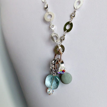 Bridal Silver Necklace with Pendant