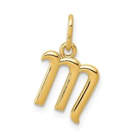 14K Yellow Gold Initial Charm