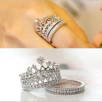 Korean Fashion Lovers Crown Ring for Women