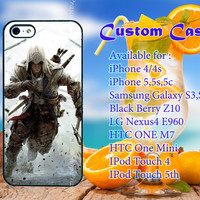 assassins creed game cover case for iPhone 4/4s, iPhone 5/5s, iPhone 5c, samsung galaxy s3,s4, BlackBerry z10, LG Nexus 4, iPod , HTC One