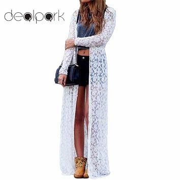 XXXXXL Women Outerwear Floral Lace Kimono Plus Size Elegant Beach Cover Up Cardigan Casual Loose Long Lace Blouse Maxi Sexy Top
