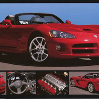 Dodge Viper SRT-10 Sports Car Poster 24x36
